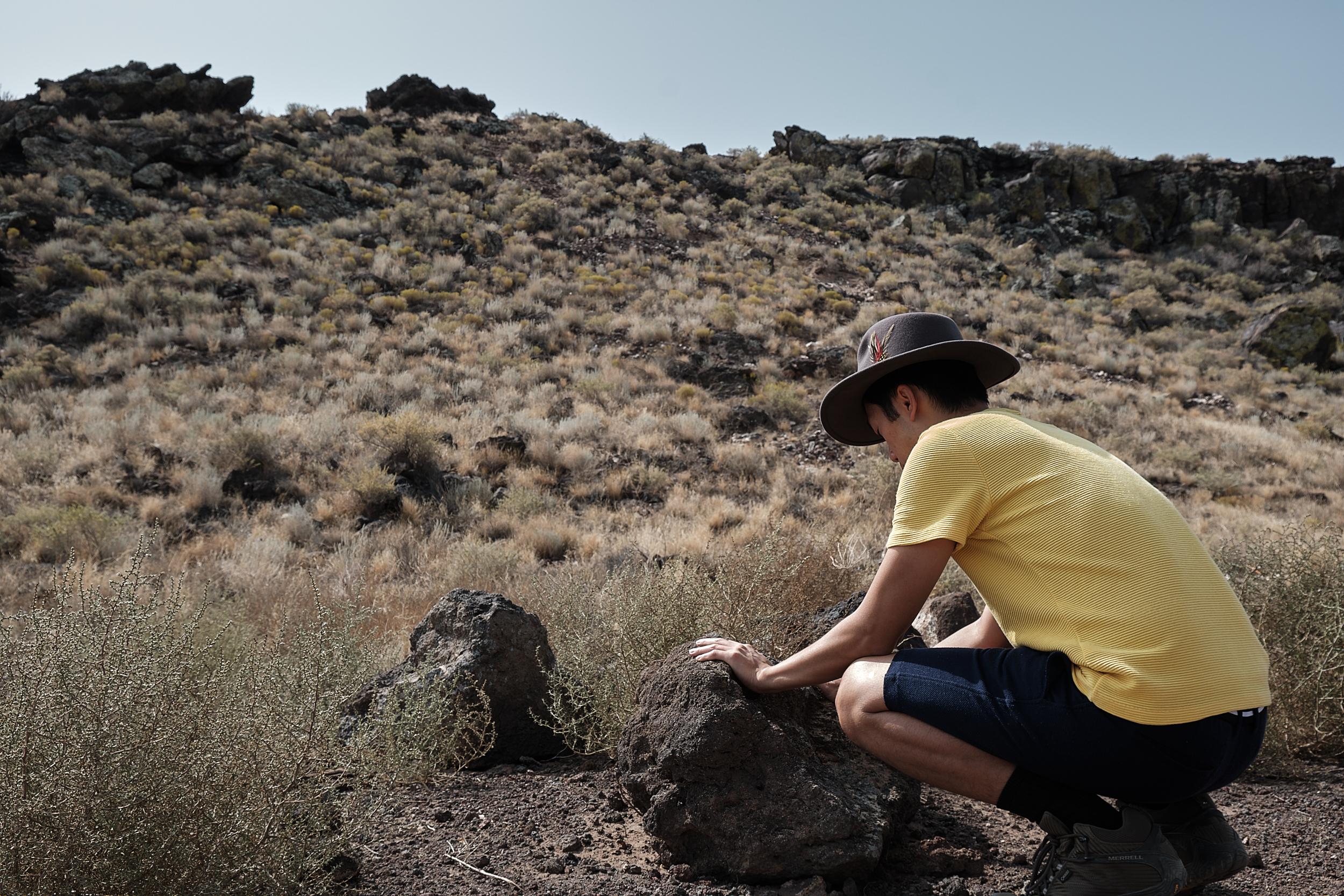 Author on Volcano